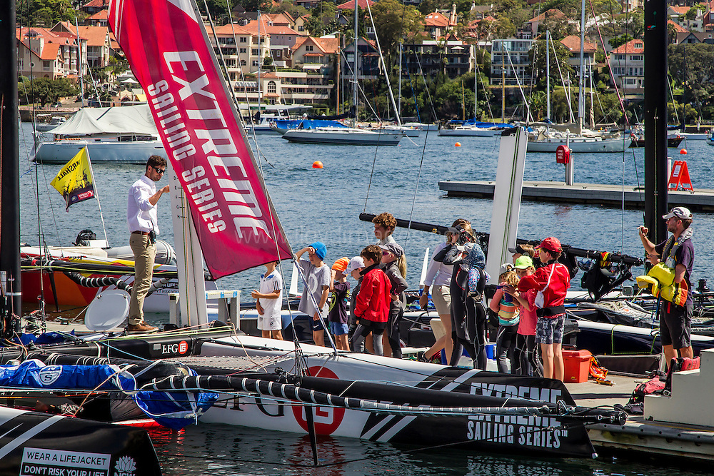 The Extreme sailing Series 2016. Act 8. Sydney. Australia . Day 4. Last day of the event. Image licensed to Jesus Renedo/Lloyd Images