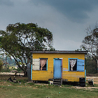 Small, wooden house in Belize