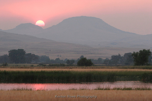 landscape, sunset, mist, skyline