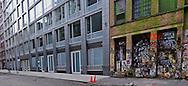 Soho, Building old and new, Graffiti, Manhattan, New York City, New York, USA