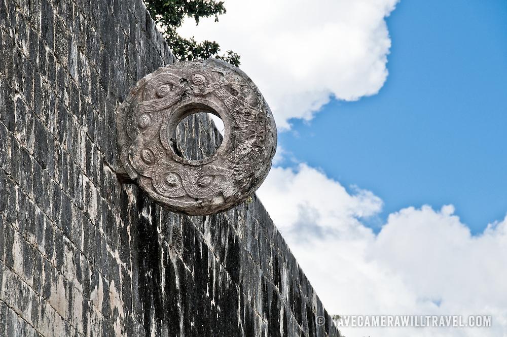 Ball Court at the ancient Mayan ruins at Chichen Itza, Yucatan, Mexico