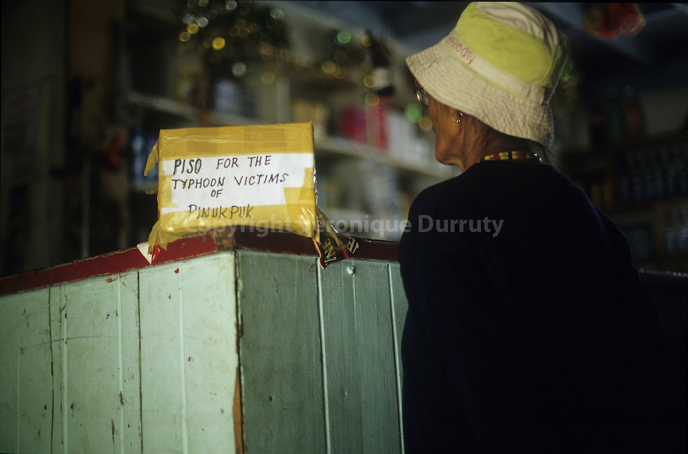 CASH BOX FOR THE TYPHOON VICTIMS, KALINGA PROVINCE, LUZON ISLAND, THE PHILIPPINES