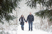 Candice & Travis winter snow storm engagement photos