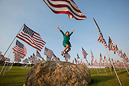 3,000 US flags to mark the 12th anniversary of the 9/11 terror attack