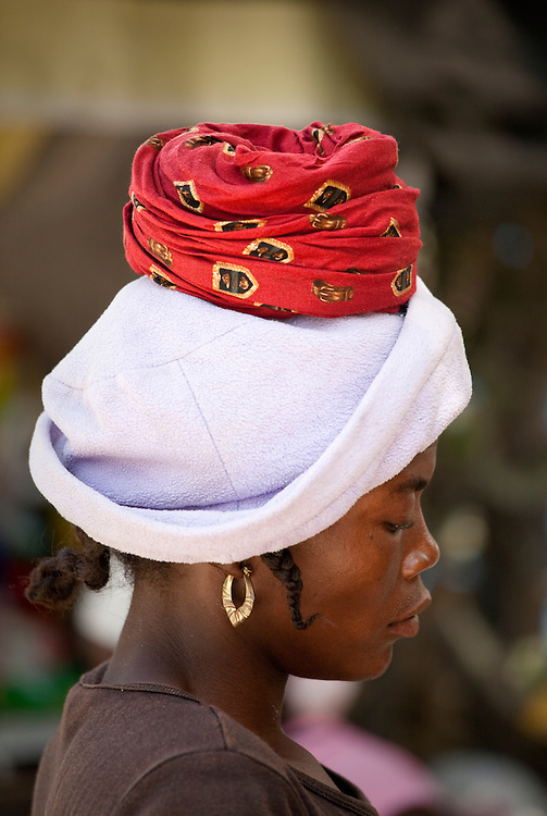 Portrait of a Haitian woman