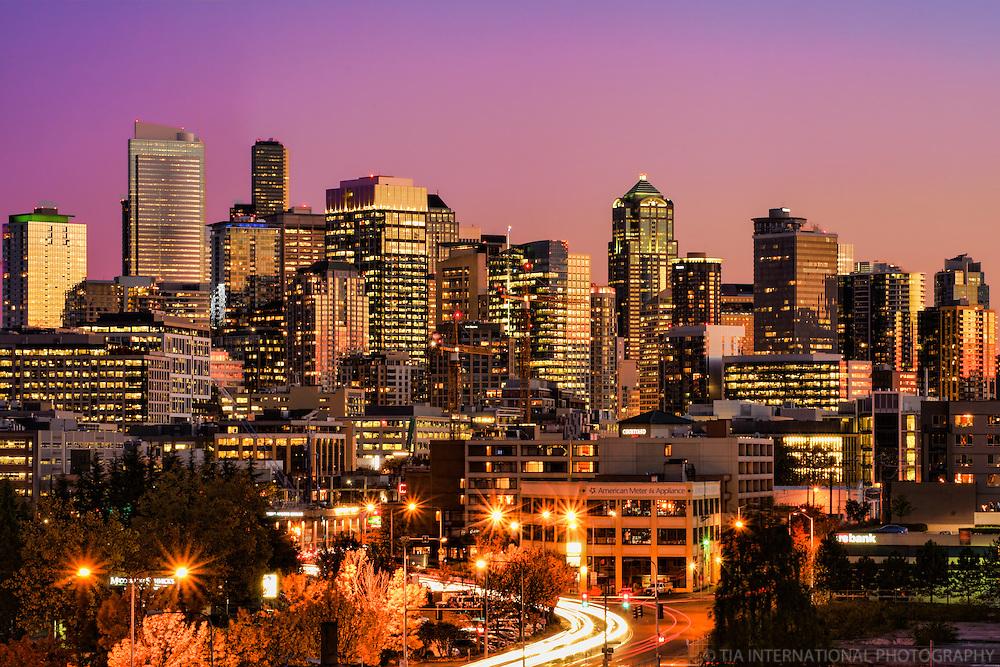 Fine Autumn Evening in Seattle