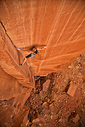 "Pro climber Steph Davis climbing ""Glad To Be A Trad"" rated 5.13 in Southern Utah."
