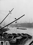 Battleship Kempenfeld in the Pool of Freedom, London, England, 1934