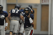 Ole Miss's Randall Mackey at spring football practice in the IPF in Oxford, Miss. on Monday, April 4, 2011.