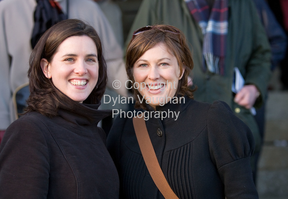24/1/2008.Over 8,000 fans from across the region attended Thyestes race day at Gowran Park Golf and Race Course..Pictured enjoying the day was Maeve McGuinness and Sinead Kelly from Carlow..Picture Dylan Vaughan.