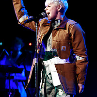 Robyn performing at Radio City Music Hall on February 5, 2011