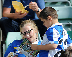Bristol Rovers fans - Mandatory byline: Neil Brookman/JMP - 07966 386802 - 19/09/2015 - FOOTBALL - Home Park - Plymouth, England - Plymouth Argyle v Bristol Rovers - Sky Bet League Two