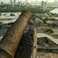 """The historic Spanish Fortress """"Castillo de San Felipe De Barajas,"""" majestically stands guard on a hillside overlooking the city and harbor. It is the largest Colonial Spanish forte in Colombia and an outstanding example of military engineering from the Colonial Period."""