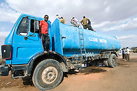 Kenya Red Cross Water Trucking/Distribution Program, Wajir, North Eastern Kenya.