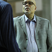 Delaware 87ers Head Coach Rod Baker seen near the sideline prior to a NBA D-league regular season basketball game Thursday, Dec. 12, 2013 at The Bob Carpenter Sports Convocation Center, Newark, DE