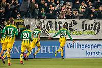 DEN HAAG - ADO Den Haag - PEC Zwolle , Voetbal , Eredivisie , Seizoen 2016/2017 , Kyocera Stadion , 21-01-2017 , ADO Den Haag speler Gervane Kastaneer viert zijn goal voor de 1-0