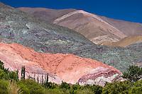 CERRO DE LOS SIETE COLORES, PURMAMARCA, QUEBRADA DE HUMAHUACA, PROV. DE JUJUY, ARGENTINA