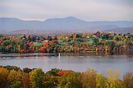 Hudson River, View From Hudson,  Looking at Catskill Mountains,, New York
