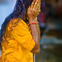 Devotees washes themelves to ritually purify their bodies before thier acts of devotion.