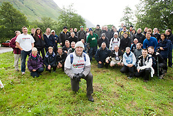 John with some of the walker before the start..The John Hartson Foudation walk up Ben Nevis..Pic ©2010 Michael Schofield. All Rights Reserved.
