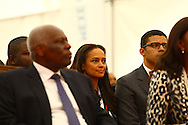 José Eduardo dos Santos, the president of the Republic of Angola and the MPLA number 1 candidate for the forthcoming general elections of August 31, and his wife Ana Paula dos Santos during the inauguration of the rehabilitation of marginal bay of Luanda, today, August 28, the day of his 70th birthday. In the background Isabel dos Santos, his daughter, and her husband Sindika Dokolo.