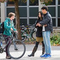 Campus scenes, fall, students. John Kelly photo
