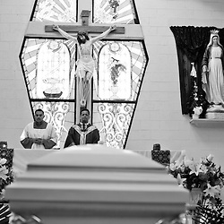 Family and friends attend the funeral of 15-year-old Sergio Adrian Hernandez Guereca, who was killed on June 7th by a Border Patrol agent in Ciudad Juarez on June 10, 2010.