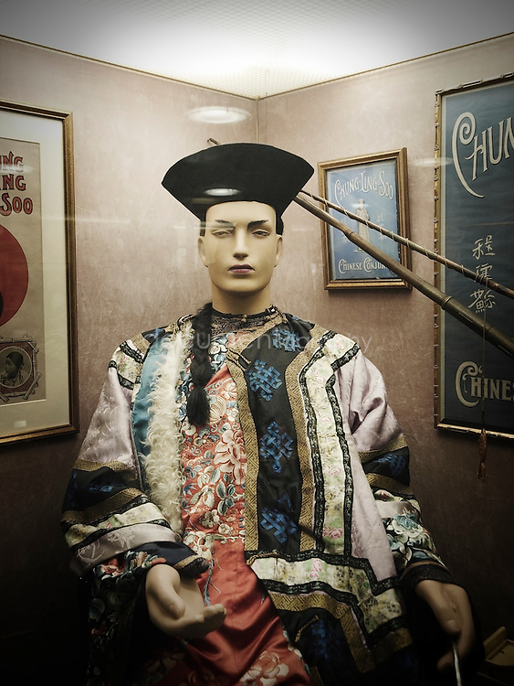 The robes and magical props of Chung Ling Soo, displayed in The Magic Circle's Museum.