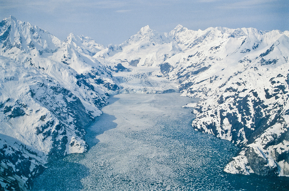 Alaska. Glacier Bay NP.John Hopkins inlet in April.