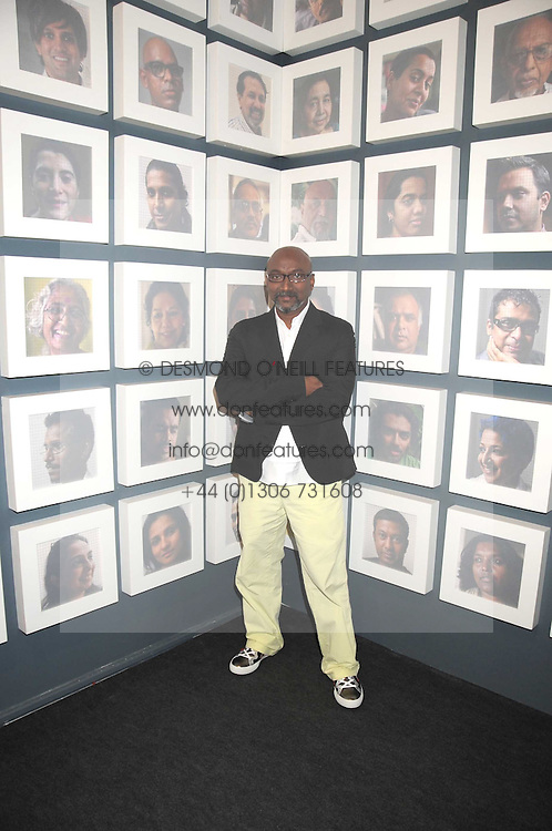 Artist BOSE KRISHNAMACHARI at an exhibition of his work at the Aicon Gallery, Heddon Street, London on 9th July 2008.<br /><br />NON EXCLUSIVE - WORLD RIGHTS