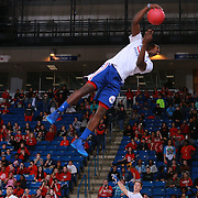 A member of the Philadelphia 76ers Phi-light Squad performs in the course of halftime during a NBA D-league regular season basketball game between the Delaware 87ers and the Maine Red Claws Friday, Feb. 19, 2016 at The Bob Carpenter Sports Convocation Center in Newark, DEL.