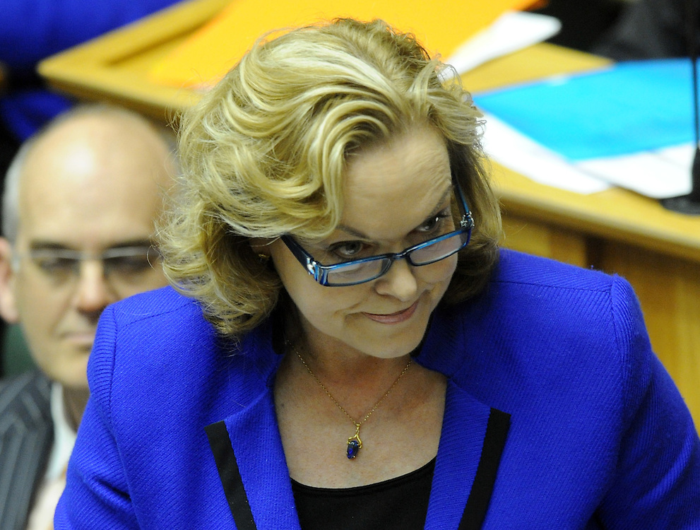 National's Judith Collins during question time in the debating chamber, Parliament, Wellington, New Zealand, Tuesday, May 01, 2012. Credit:SNPA / Ross Setford