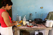 Home cooking in Las Minas, Charco Redondo, Granma Province, Cuba.