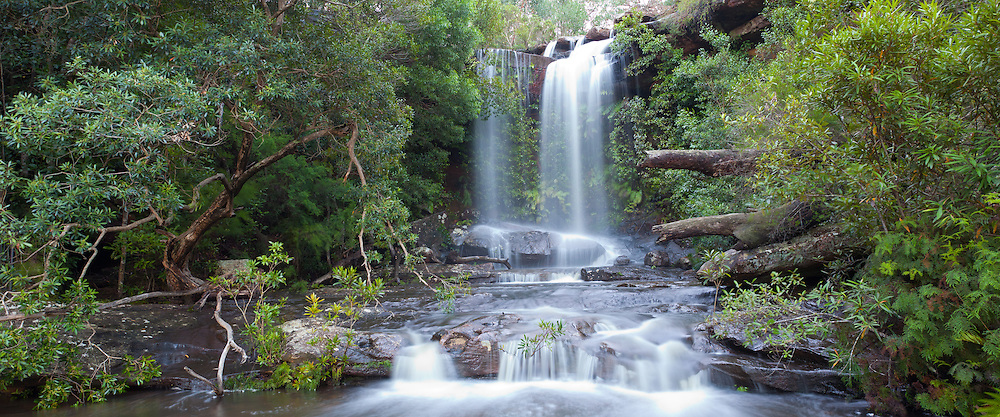 Upper National Falls. Waterfall in the Royal National Park, NSW, Australia
