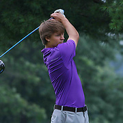Reed Winkler of Wilmington, MD, tees off on the eighth hole during the boys 2015 Delaware junior championship at Chesapeake Bay Golf Club Thursday, July 03, 2015, in Rising Sun, Maryland.