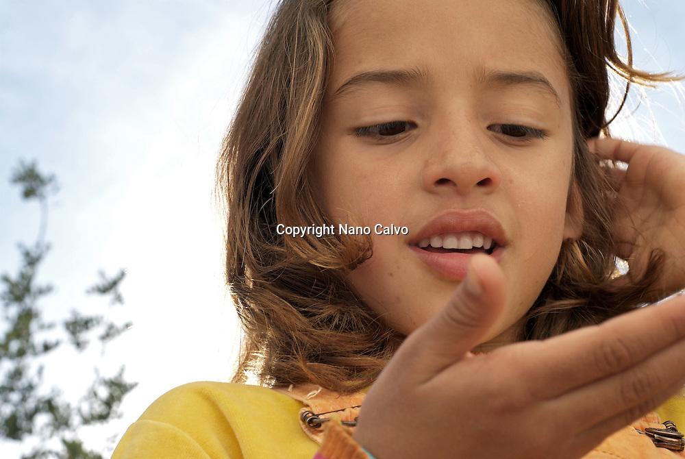 Cute brazilian seven year old girl
