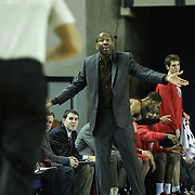 Springfield Armor Head Coach Doug Overton seen in the second half of a NBA D-league regular season basketball game between the Delaware 87ers (76ers) and the Springfield Armor (Nets) Saturday, Dec. 28, 2013 at The Bob Carpenter Sports Convocation Center, Newark, DE