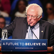 Democratic presidential candidate Bernie Sanders speaks in Wilmington Saturday. April. 23, 2016, at The Case Center on The River Front in Wilmington Delaware.