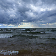&quot;Lake Michigan in Motion&quot;<br /> <br /> Beautiful Lake Michigan on a stormy day!