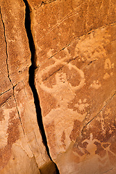 Petroglyphs of the Dinetah, the ancestors of the Navajo people. Largo Canyon, New Mexico.