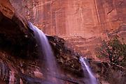 Image of Emerald Pool Falls at Zion National Park in Utah, American Southwest