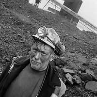 MINER AFTER HIS TEN HOURS SHIFT UNDERGROUND AT LONGANNET COLLIERY, CULROSS. SCOTLAND, APRIL, 2001.
