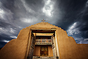 San Jose de Gracia Church in the village of Las Trampas, New Mexico.