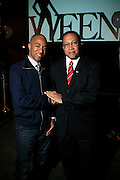 Datwon Thomas and Dr. Benjam Chavis Muhummad at The Women in Entertainment Empowerment Network (WEEN) Signature, Fundraising series VIPink with An Exclusive Performance by Grammy Winning Super Producer/Songwriter Bryan-Michael Cox at the Boucarou Lounge on April 30. 2008.