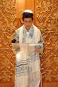 France, Paris, Interior of a synagogue Bar Mitzvah ceremony