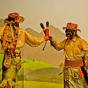 Lively folk dancing in Cuzco, Peru.