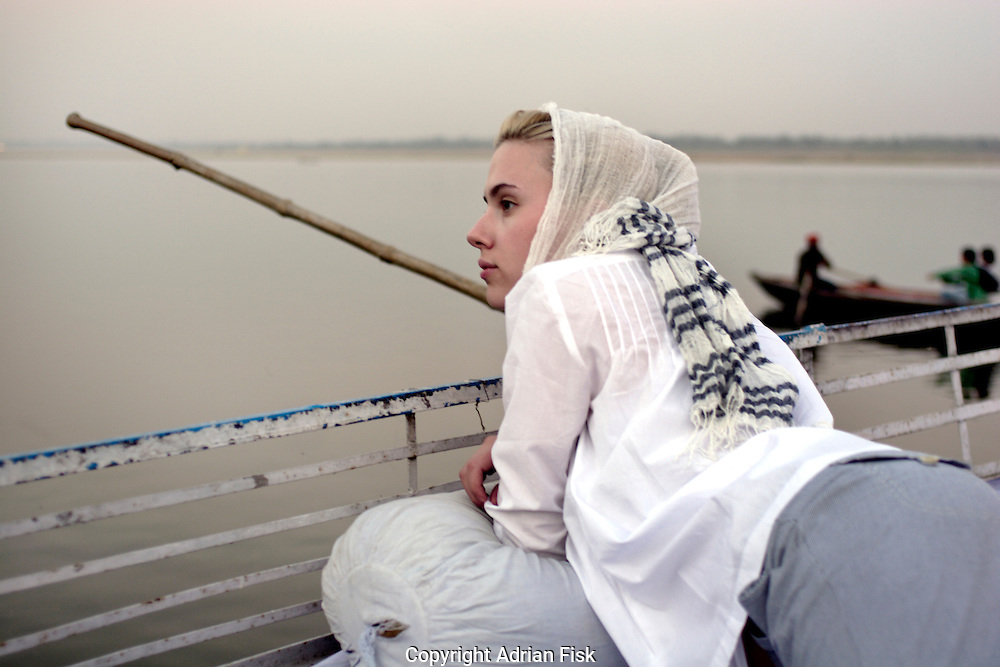 Floating gently down the Ganges in Varanasi