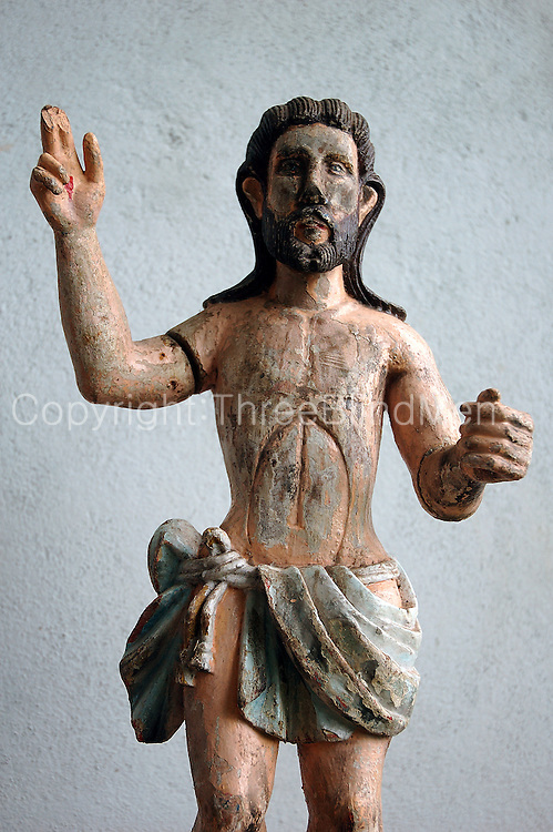 Catholic statues made from wood.
