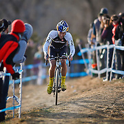 SHOT 1/12/14 4:24:10 PM -  Timothy Johnson (#2) of Topsfield, Ma.  competes in the Men's Elite race at the 2014 USA Cycling Cyclo-Cross National Championships at Valmont Bike Park in Boulder, Co. Johnson finished third in the race. (Photo by Marc Piscotty / © 2014)