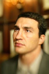 February 8, 2006 - New York, NY - Wladimir Klitschko during the press conference announcing his upcoming fight against IBF Heavyweight Champion Chris Byrd.  The two fighters will meet on April 22nd for Byrd's IBF and the vacant IBO Heavyweight Championship at the SAP-Arena in Mannheim, Germany.